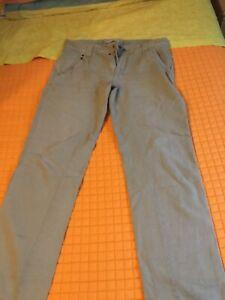 Pantaloni Beige Cotone Lino Uomo MeltinPot