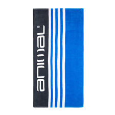 ANIMAL MENS BEACH TOWEL.NEW HAMPTON BLUE BLACK STRIPED COTTON VELOUR MAT 8S 1 2
