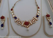 Kundan Wedding Jewelry necklace with earrings gold plated bridal jewellery sets