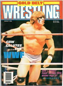 Gold Belt Wrestling Magazine (August 1988) Ultimate Warrior on cover