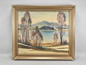 f95r25- Gemälde, Seelandschaft, signiert