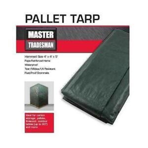 Master Tradesman MT GRN-BRN PALLET COVER 5 x 4 x 4 ft. Pallet Tarp Cover Gree...