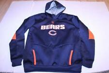 Youth Chicago Bears L (14/16) Athletic Performance Hoodie Hooded Sweatshirt (Nav
