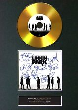 More details for #189 linkin park midnight gold cd signed reproduction autograph mounted repro a4