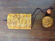 "1940 Japanese handmade Boxwood  Netsuke""dragon hanger""Figurine Carving 2.5inch"