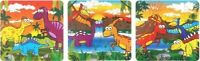 12 Mini Dinosaur Jigsaw Puzzle Loot Bag Fillers Boys Birthday Party Favours Game