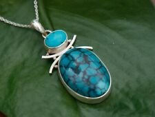 Khusi handmade 925 Sterling Silver with Turquoise and onyx gemstone Necklace