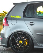 Aufkleber Lowlife Car Auto Sticker Tuning JDM Decal Scene WOW boot Neon Gelb