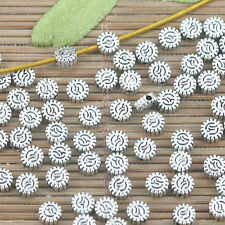 110pcs tibetan silver color round declicate spacer bead h3356
