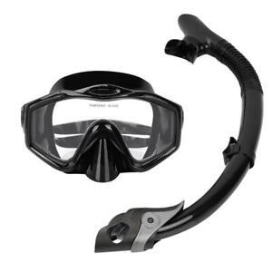 Schnorchelset Erwachsene Tauchmaske Unterwasser Taucherbrille Mit Atemschlauch A