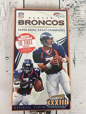 NFL Super Bowl 33 XXXII Official VHS FACTORY SEALED Denver Broncos NFL Films