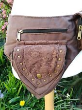 Dark brown Pixie Money pocket belt bum bag psy vegan fair trade larp Festival