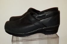 Dansko Professional Black Nubuck Shoes size 39