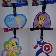 Rubber Luggage Tag  frozen ANA ELSA kids - your choice 1pcs - BACKPACK TOTE