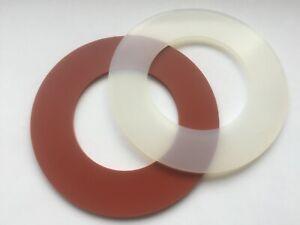 Flanschdichtung Flachdichtung DN15 - DN200 Silikon 2/3mm DIN2690 rot/transparent