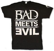 "EMINEM ""BAD MEETS EVIL"" BLACK T-SHIRT NEW OFFICIAL RAP 2011 LOLLAPALOOZA ADULT S"