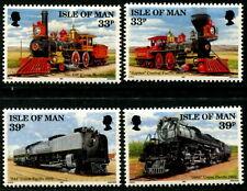 ISLE OF MAN - 1992 'CONSTRUCTION OF UNION PACIFIC RAILROAD' Set of 4 MNH [B4813]