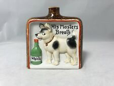 Schafer & Vater Whimsical Porcelain-His Masters Breath Whiskey Flask