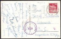s1652) Fußball Autogrammkarte Spieler der Austria Wien 1950 an Josef Schmidt