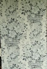 14 sr Black White Floral Columns Neoclassical Handprinted Waterhouse Wallpaper