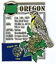 Oregon The Beaver State Montage Fridge Magnet