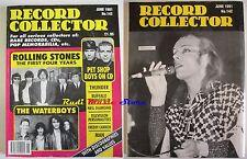 Rivista RECORD COLLECTOR Nr 142/ 1991 Rolling Stones The Waterboys Diamond NO cd