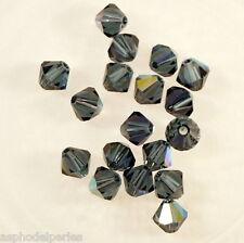 20 perles  toupies en cristal de Swarovski  5301 Montana AB 5 mm