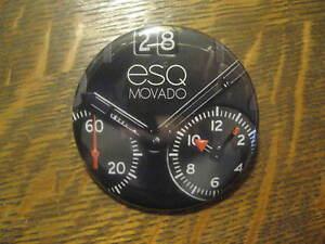 Movado ESQ Watch Black Advertisement Logo Promo Button Pin FREE USA Shipping $20