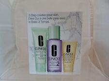 Clinique Paso 3 cuidado de la piel NO2-conjunto De Tóner/Crema Hidratante Limpiador/