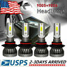 2-Sides LED Headlight Bulbs Conversion Kit 9005 9006 High Low Beam Bright White