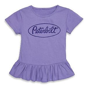 peterbilt purple girls youth ruffle shirt top tutu truck kids pete child gift