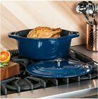 VIKING 7-Quart Enamel Coated Cast Iron Oval Dutch Oven/Roaster Durable Blue photo