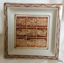 """Vintage Small Square Plate with Calligraphy Made in Japan 3.5"""""""