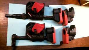 """Craftsman double action pipe clamps 2 SETS USED Made In USA 3/4"""""""