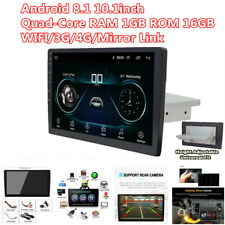 """Android 8.1 Single 1 DIN 10.1"""" Car Stereo Radio WIFI GPS HD Touch Screen  Player"""