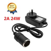 2A Cigarette Lighter Socket 220V Mains Plug to 12V DC Car Charger Power Adapter
