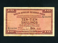 South Africa:P-82e,10 Shillings, 1945 * VF *
