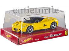 Hot wheels Ferrari LaFerrari 2014 New Enzo 1:24 Diecast Model Car Yellow BLY63