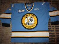 Phoenix Roadrunners #11 Face Off ECHL Reebok Game Worn Used Hockey Jersey 56