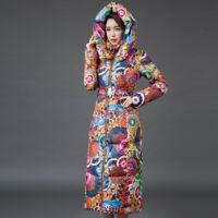 New Winter Long Down Cotton Women Parka Hooded Coat Ladies Cotton Jacket XS-XL