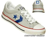 Womens Boys CONVERSE All Star® STAR PLAYER OX GREY BLUE Trainers Shoes UK SIZE 5