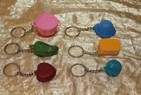 New Tupperware Set of 6 Beautiful Keychain for your Collection