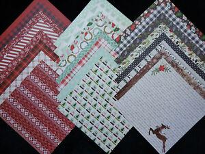 12x12 Scrapbook Paper Cardstock Christmas Comfort & Joy Rustic Holiday MME 24