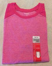 NWT - Danskin Womens 3/4 Sleeve Tee Pink Flame - Small