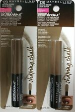 2 Maybelline Brow Drama Shaping Chalk Powder #120 Medium Brown