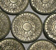 One 1944 WW2 WESTERN NUMERALS Thailand 1 Satang Chakra Tin Coin BE2487 Grade B
