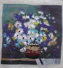 "Chinese totally 100% hand su silk embroidery art:babysbreath flower 8"""