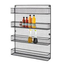 Kitchen Rack Shelving Metal Wall Mounted Organizer Spice Racks Pantry for Jars