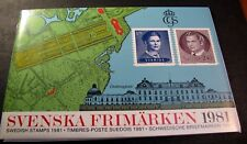 Sweden 1981 Year Stamp Set (Pack) Folder with MNH  L96
