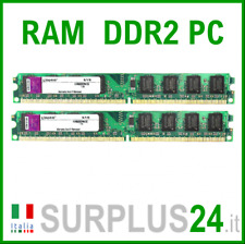 KIT RAM KINGSTON 4Gb (2x2Gb) PC2-6400U KVR800D2N6  DDR2 800Mhz 240pin x DESKTOP